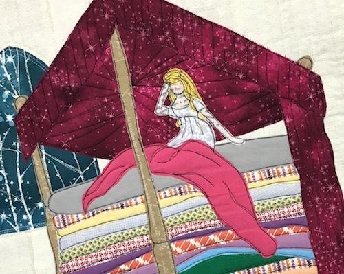 Princess and the Pea Magenta detail