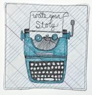 Typewriter - Blue