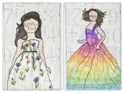 Bloom True & Rainbow Dress