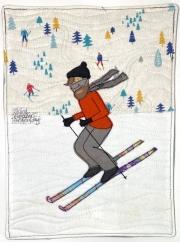 skiing fun day