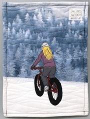 loves her snow bike